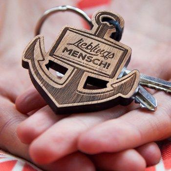 Schlüsselanhänger Lieblingsmensch mit Anker