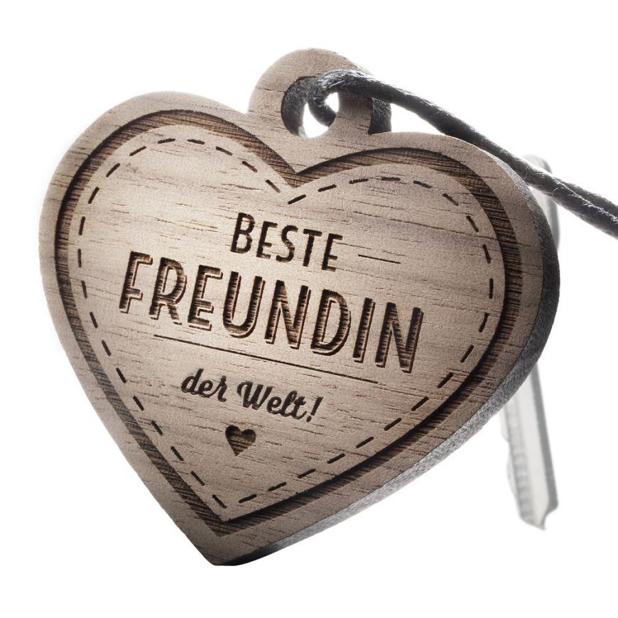Beste Freundin der Welt Schlüsselanhänger mit Gravur