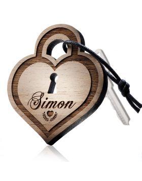 Schlüsselanhänger aus Holz Modell: HOT LOCK