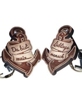 Schlüsselanhänger mit Gravur - Du bist mein ... Lieblingsmensch