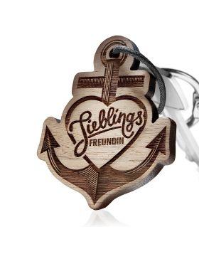Schlüsselanhänger mit Gravur: Lieblingsfreundin