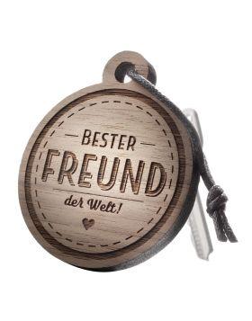Schlüsselanhänger mit Gravur: Bester Freund der Welt!