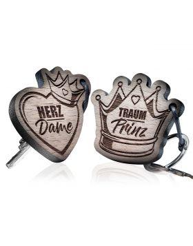 Herz Dame - Traum Prinz - Schlüsselanhänger - 2-teiliges Set
