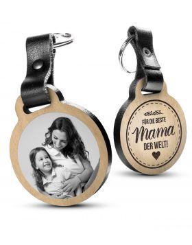 Für die beste Mama der Welt - Fotogravur Schlüsselanhänger