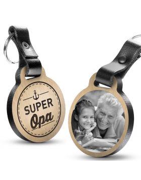 Super Opa - Fotogravur Schlüsselanhänger