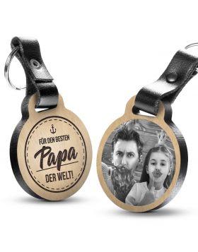 Für den besten Papa der Welt - Fotogravur Schlüsselanhänger