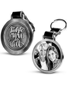 Liebste Mama der Welt - Fotoschlüsselanhänger METALL