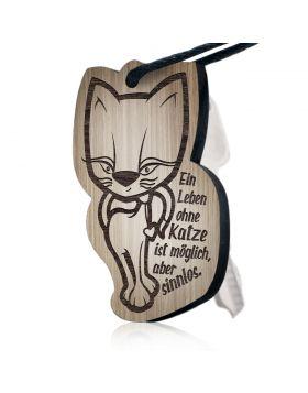 """""""Ein Leben ohne Katze ist möglich, aber sinnlos""""  Schlüsselanhänger Huggelz"""