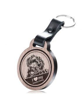I love my Bolonka Zwetna - Schlüsselanhänger mit Gravur - Bolonka Zwetna
