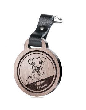 I love my Jackie - Schlüsselanhänger mit Gravur - Jack Russell Terrier