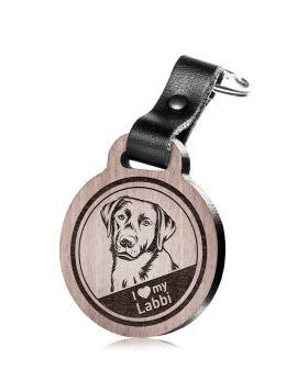 I love my Labbi - Schlüsselanhänger mit Gravur - Labrador Retriever