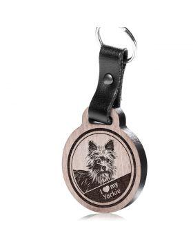 I love my Yorkie - Schlüsselanhänger mit Gravur - Yorkshire Terrier
