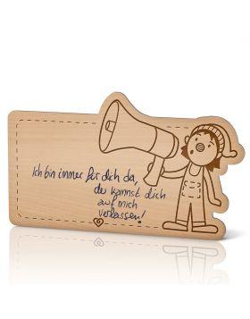 Lebenslicht Ruf der Freude - Postkarte aus Holz zum selbst beschriften | Das ultimative Geschenk