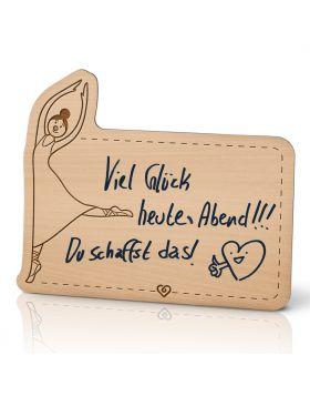 Lebenslicht Herzdame - Postkarte aus Holz zum selbst beschriften | Das ultimative Geschenk