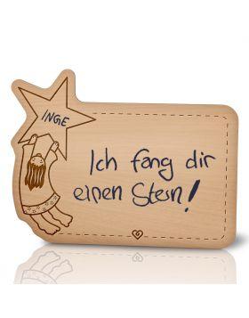 Lebenslicht Sternschnuppe - Postkarte aus Holz zum selbst beschriften | Das ultimative Geschenk