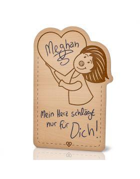 Lebenslicht Herzklopfen - Postkarte aus Holz zum selbst beschriften | Das ultimative Geschenk