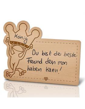Lebenslicht Froschkönig - Postkarte aus Holz zum selbst beschriften | Das ultimative Geschenk!