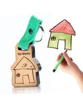 Kinder Schlüsselanhänger mit Gravur als Geschenk für Familie