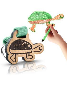 Kinder Schlüsselanhänger aus Holz als Geschenk für Familie