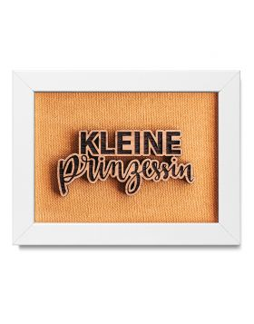 """""""Kleine Prinzessin"""" - Holz Bilderrahmen mit persönlicher Gravur als Wanddeko"""