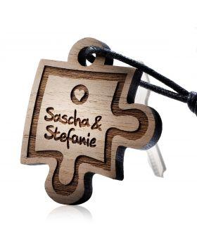 Schlüsselanhänger aus Holz Modell: PIECE OF ME