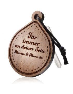 Schlüsselanhänger aus Holz Model: TROPFEN
