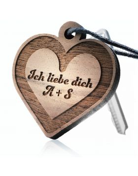 Schlüsselanhänger aus Holz Modell:  INFINITY