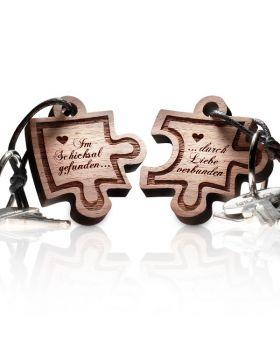 Schlüsselanhänger Puzzle: Im Schicksal gefunden ... durch Liebe verbunden
