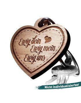 Schlüsselanhänger mit Gravur: Ewig dein - ewig mein - ewig uns!