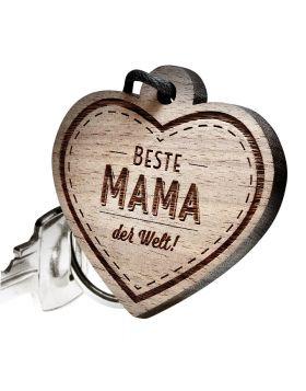 Schlüsselanhänger mit Gravur: Beste Mama der Welt!
