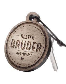 Schlüsselanhänger mit Gravur: Bester Bruder der Welt!