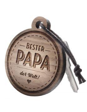 Schlüsselanhänger mit Gravur: Bester Papa der Welt!