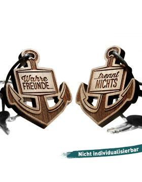 Wahre Freunde ... trennt nichts Schlüsselanhänger graviert