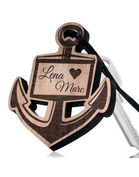 Schlüsselanhänger aus Holz Modell: ANKER