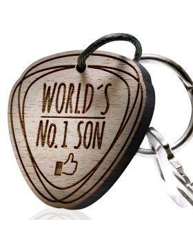 Schlüsselanhänger mit Gravur: World´s No. 1 Son