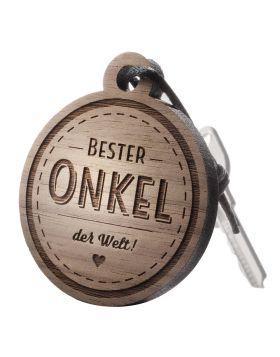 Schlüsselanhänger mit Gravur: Bester Onkel der Welt!