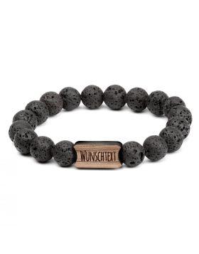 Armband mit Perlen aus Naturstein | Modell: BLACK LAVA