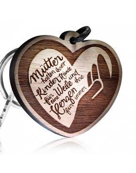 Schlüsselanhänger Mütter halten ihrer Kinder Hände für eine Weile und ihre Herzen für immer!