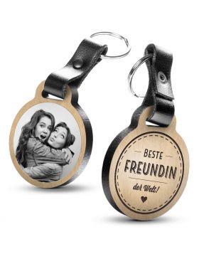 Beste Freundin der Welt - Fotogravur Schlüsselanhänger