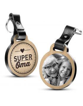 Super Oma - Fotogravur Schlüsselanhänger