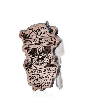 Jeder kann ein Vater sein Schlüsselanhänger Holz mit Gravur