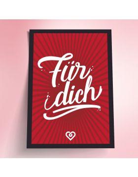 schenkYOU® Postkarte  Rot – Für dich