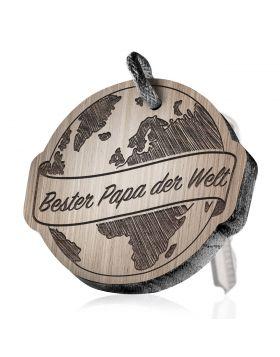 Bester Papa der Welt Schlüsselanhänger mit Gravur
