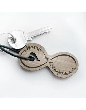 Mama, du bist einfach die Beste Schlüsselanhänger mit Gravur