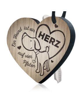"""""""Ein Hund ist ein Herz auf vier Pfoten"""" Schlüsselanhänger Huggelz"""