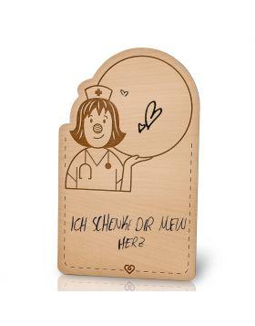 Lebenslicht Gesundheit - Postkarte aus Holz zum selbst beschriften | Das ultimative Geschenk
