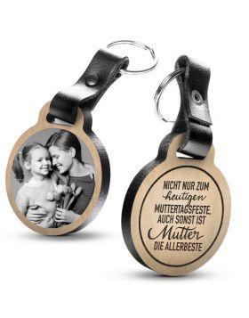 Nicht nur zum heutigen Muttertagsfeste  - Fotogravur Schlüsselanhänger
